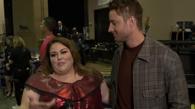 interview chrissy metz justin hartley at the 2019 billboard music awards at mgm grand garden arena on may 01 2019 in las vegas nevada - mgm grand garden arena stock videos & royalty-free footage