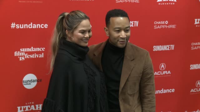 Chrissy Teigen and John Legend at the 'Monster' World Premiere 2018 Sundance Film Festival at Eccles Center Theatre on January 22 2018 in Park City...