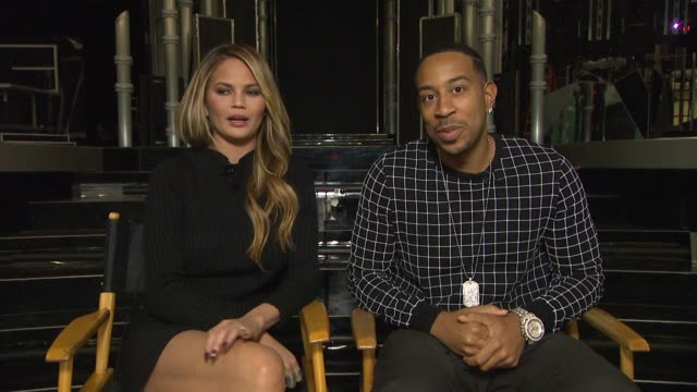 interview chrissy teigen and ludacris at mgm grand on may 15 2015 in las vegas nevada - ludacris stock videos & royalty-free footage