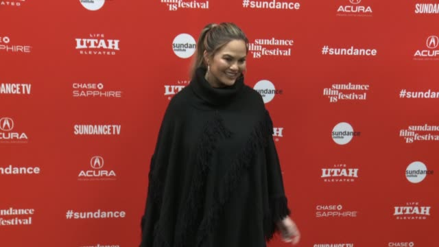 Chrissy Teigen at the 'Monster' World Premiere 2018 Sundance Film Festival at Eccles Center Theatre on January 22 2018 in Park City Utah