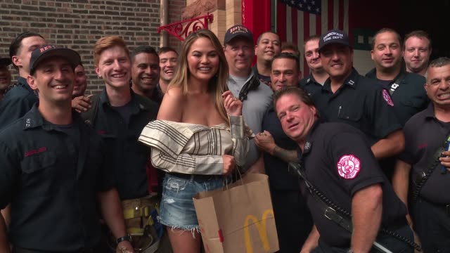 CLEAN Chrissy Teigen Celebrates McDelivery Launch on July 25 2017 in New York City