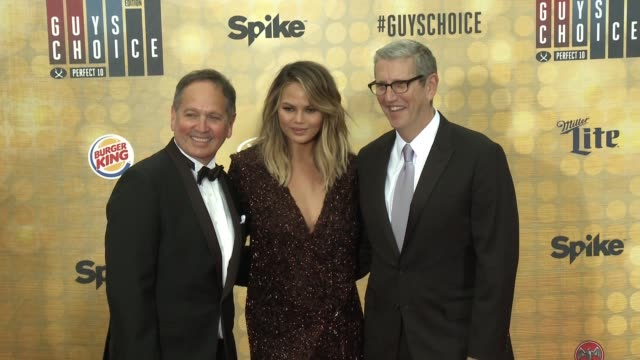 Chrissy Teigen Doug Herzog And Kevin Kayat The Spike Tvs Guys Stock Footage Video Getty Images