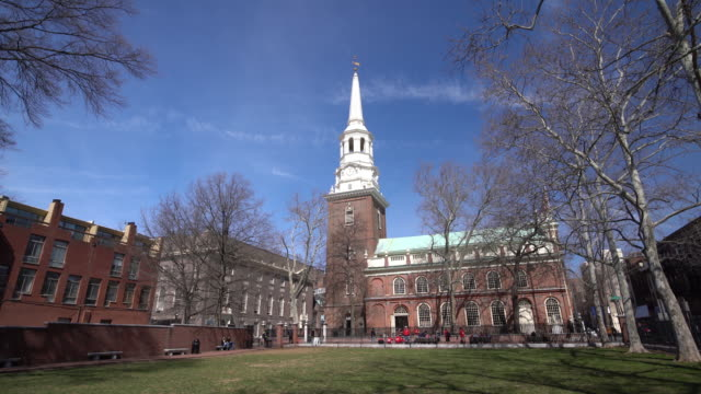 christ church in old downtown of philadelphia - colonial stock videos & royalty-free footage