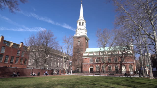 christ church in old downtown of philadelphia - circa 4th century stock videos & royalty-free footage
