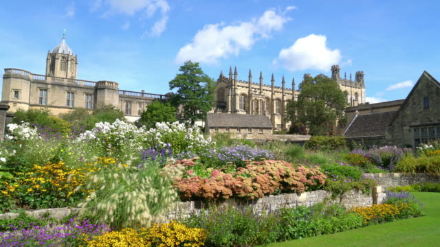 christ church with war memorial garden in oxford, uk - chapel stock videos & royalty-free footage