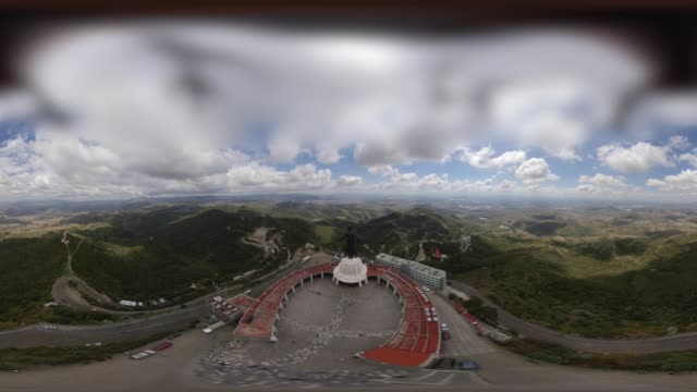 christ king of the cubilete hill in guanajuato in 360 vr - 1944 stock videos & royalty-free footage