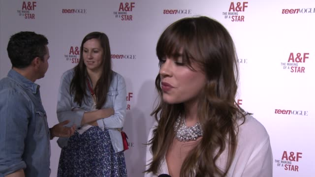 christa b. allen on how it felt to be selected by a&f, her favorite things about the brand, what it was like working with bruce weber for the shoot,... - oscar party stock videos & royalty-free footage