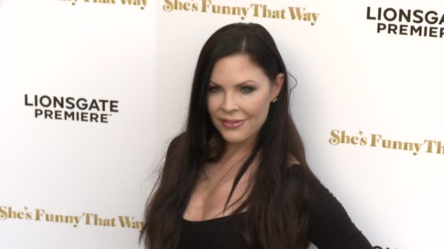 """christa campbell at the """"she's funny that way"""" los angeles premiere at harmony gold theatre on august 19, 2015 in los angeles, california. - she's funny that way点の映像素材/bロール"""