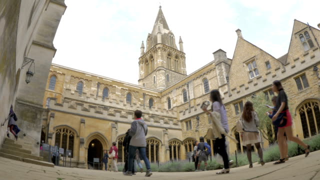 christchurch college,cloisters,ws, - oxford university stock videos & royalty-free footage