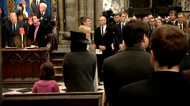 prince charles attends memorial service at westminster abbey england london westminster abbey int **intermittent hymns and organ music throughout**... - memorial event stock videos and b-roll footage