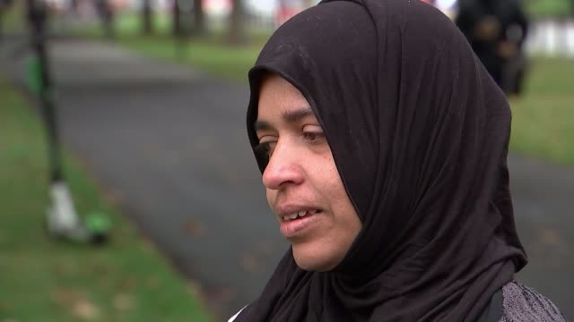 jacinda ardern to push for gun law changes as locals mourn victims new zealand south island canterbury linwood mosque crime scene / survivor and... - christchurch stock-videos und b-roll-filmmaterial