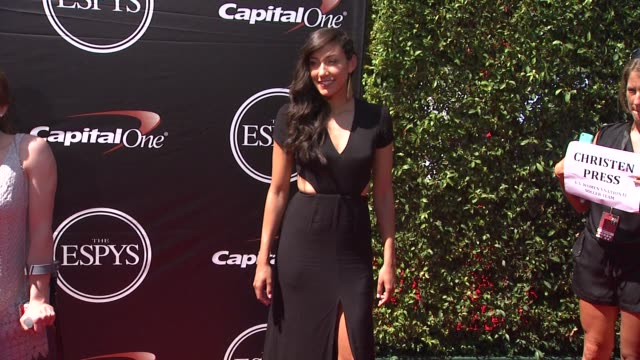 christen press at the 2015 espys at microsoft theater on july 15 2015 in los angeles california - microsoft theater los angeles stock videos and b-roll footage