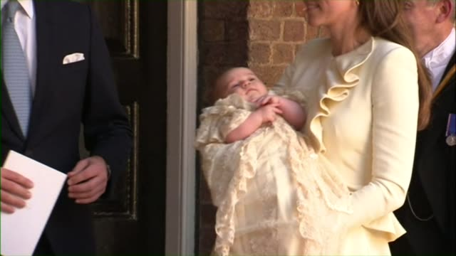 christening of prince george - baptism stock videos & royalty-free footage