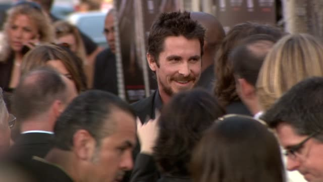 christian bale at the 'terminator salvation' premiere at hollywood ca. - terminator stock videos & royalty-free footage