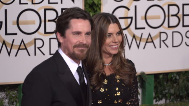Christian Bale Sibi Blazic at the 73rd Annual Golden Globe Awards Arrivals at The Beverly Hilton Hotel on January 10 2016 in Beverly Hills California...