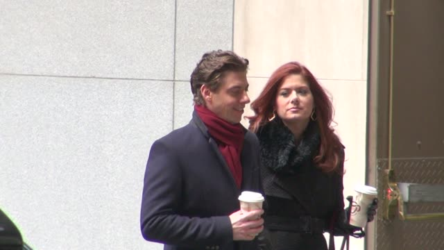 Christian Borle and Debra Messing on location for 'Smash' Christian Borle and Debra Messing on location for on November 16 2012 in New York New York
