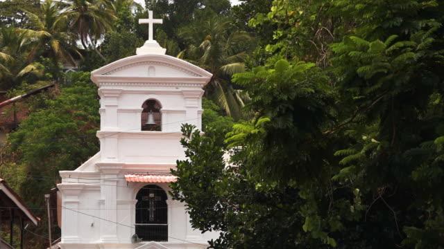 a christian church in the rural side of india - 宗教上のシンボル点の映像素材/bロール