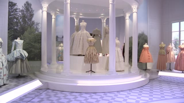 Christian Dior retrospective to open at London's Victoria Albert museum ENGLAND London V General views of Victoria and Albert Museum exhibition...