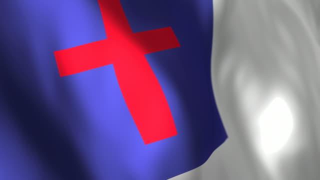 christian フラグ-ループのディテール - キリスト教点の映像素材/bロール