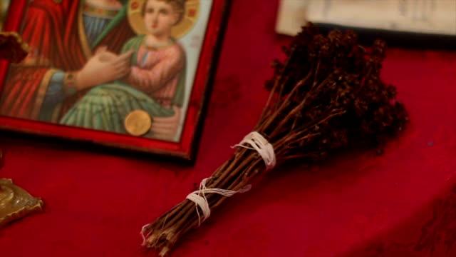 christliche orthodoxe namen geben - heiliger stock-videos und b-roll-filmmaterial