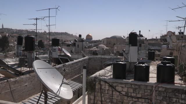 christian quarter rooftops, jerusalem, israel - jerusalem stock-videos und b-roll-filmmaterial