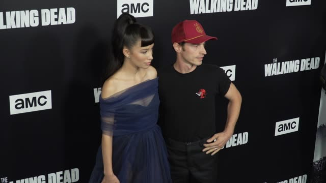 Christian Serratos and David Boyd at the The Walking Dead Season 9 Premiere at DGA Theater on September 27 2018 in Los Angeles California