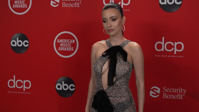 christian serratos at the 2020 american music awards at the microsoft theater on november 22, 2020 in los angeles, california. - microsoft theater los angeles stock videos & royalty-free footage