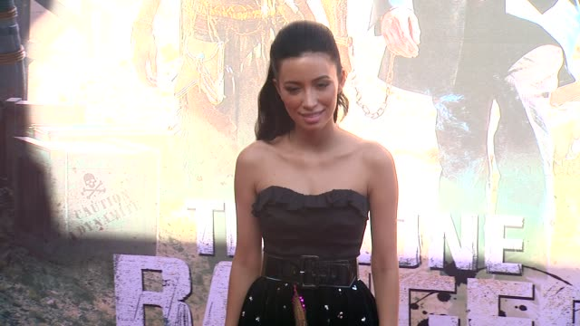 christian serratos at the lone ranger los angeles premiere christian serratos at the lone ranger los angele at disney california adventure park on... - the lone ranger 2013 film stock videos and b-roll footage
