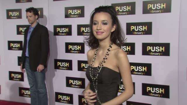 Christian Serratos at the 'Push' Premiere at Los Angeles CA