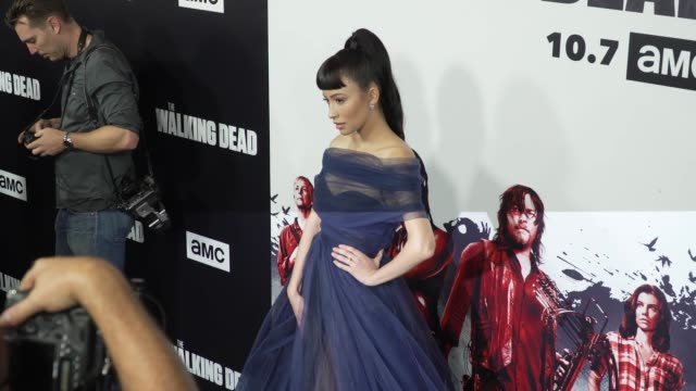 Christian Serratos at the The Walking Dead Season 9 Premiere at DGA Theater on September 27 2018 in Los Angeles California