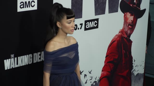 MO Christian Serratos at the The Walking Dead Season 9 Premiere at DGA Theater on September 27 2018 in Los Angeles California