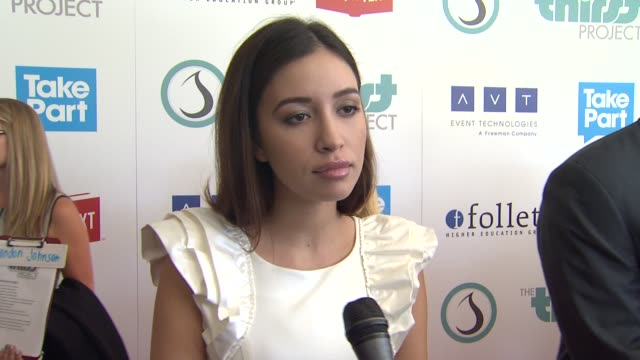 Christian Serratos on the event cause and her projects at The 3rd Annual Thirst Project Gala in Los Angeles CA on 6/26/12 in Los Angeles CA
