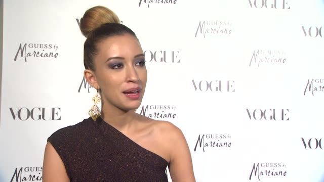 Christian Serratos on what brings her out what about fashion inspires her how she would describe her personal style what she loves about her Guess...