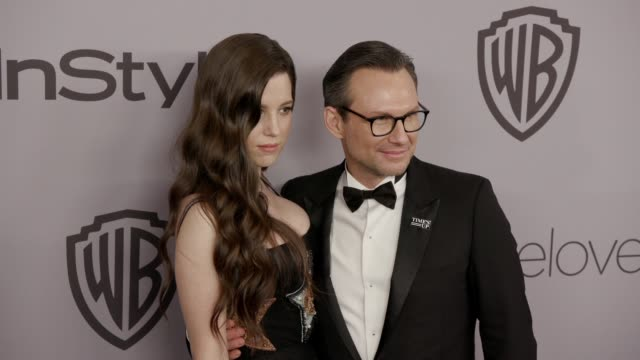 Christian Slater and Brittany Lopez at the Warner Bros Pictures and InStyle Host 19th Annual PostGolden Globes Party at The Beverly Hilton Hotel on...