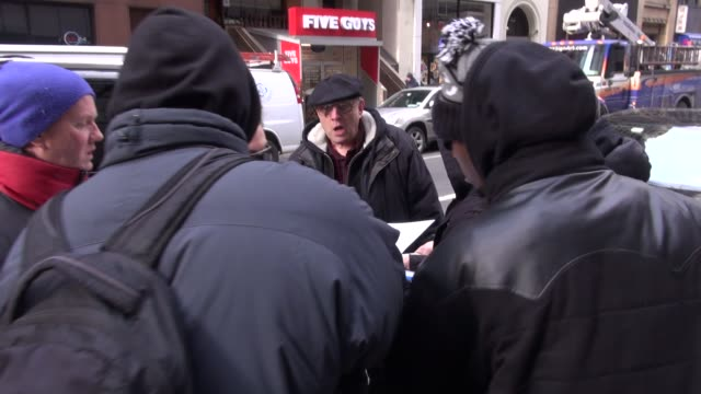christian slater arrives at the today show in rockefeller center signs for fans before going in in celebrity sightings in new york - christian slater stock videos & royalty-free footage