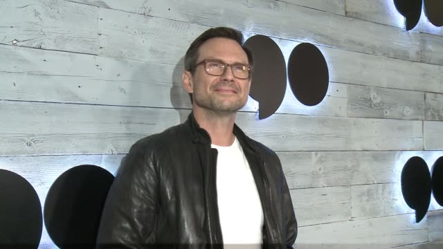 christian slater at go90 gives vip sneak peek of new social media entertainment platform in los angeles ca - christian slater stock videos & royalty-free footage