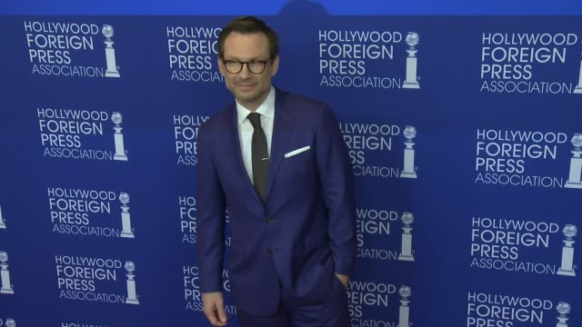 christian slater at hollywood foreign press association's grants banquet in los angeles ca - christian slater stock videos & royalty-free footage