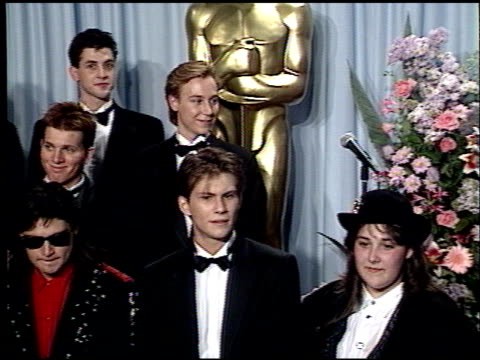 christian slater at the 1989 academy awards at the shrine auditorium in los angeles california on march 29 1989 - christian slater stock videos & royalty-free footage
