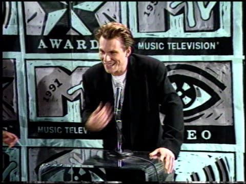 christian slater at the 1991 mtv awards at universal amphitheatre in universal city california on january 1 1991 - christian slater stock videos & royalty-free footage