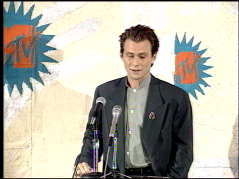 christian slater at the 1993 mtv movie awards at universal amphitheatre in universal city california on june 5 1993 - christian slater stock videos & royalty-free footage