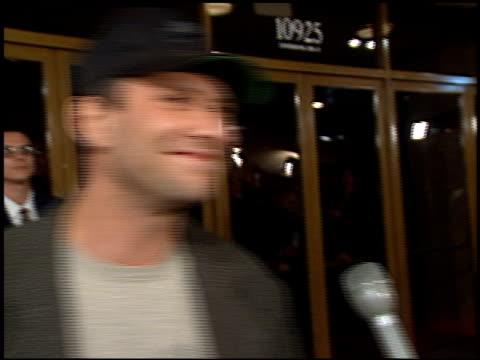 christian slater at the 'absolute power' premiere at the mann festival theater in westwood california on february 4 1997 - christian slater stock videos & royalty-free footage