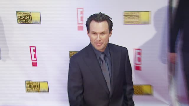 Christian Slater at the Broadcast Film Critics Association's 2007 Critic's Choice Awards at Santa Monica Civic Auditorium in Santa Monica California...
