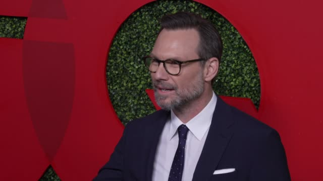 christian slater at the gq 2018 men of the year celebration at benedict estate on december 06 2018 in beverly hills california - christian slater stock videos & royalty-free footage