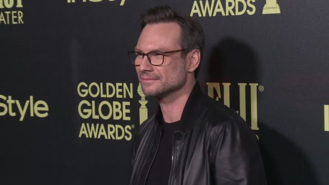 christian slater at the hollywood foreign press association and instyle celebrate the 2016 golden globe award season at ysabel on november 17 2015 in... - christian slater stock videos & royalty-free footage