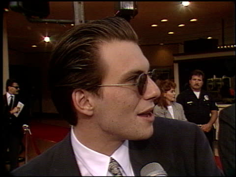 christian slater at the 'robin hood' premiere on june 10 1991 - christian slater stock videos & royalty-free footage