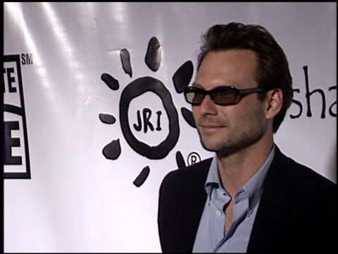 christian slater at the share the beat gala at cicada in los angeles california on september 20 2003 - christian slater stock videos & royalty-free footage
