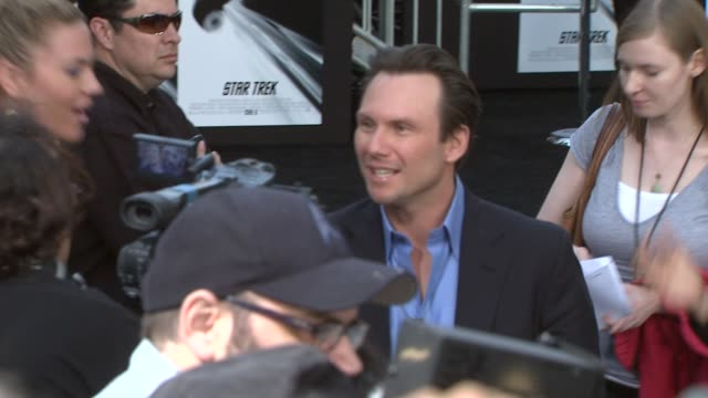 christian slater at the 'star trek' premiere at hollywood ca - christian slater stock videos & royalty-free footage