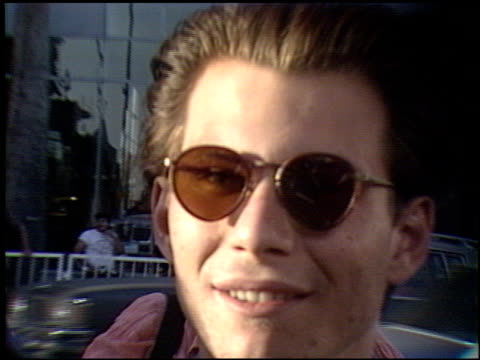 christian slater at the 'truth or dare' premiere at the cinerama dome at arclight cinemas in hollywood, california on may 6, 1991. - 1991 stock videos & royalty-free footage