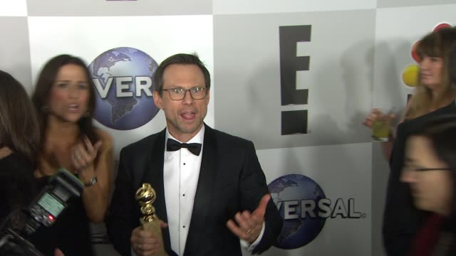 christian slater at universal nbc focus features e entertainment golden globes after party sponsored by chrysler at the beverly hilton hotel on... - christian slater stock videos & royalty-free footage