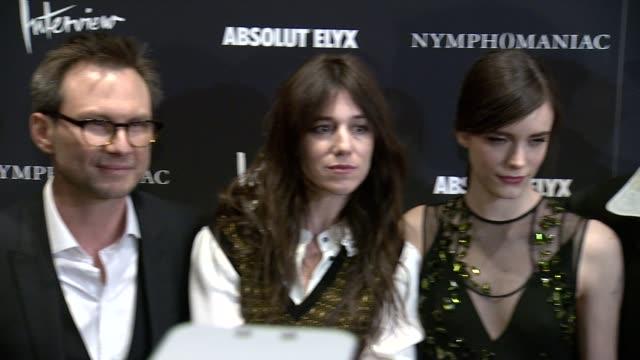 Christian Slater Charlotte Gainsbourg Stacy Martin Uma Thurman and Stellan Skarsgard at Uma Thurman at Nymphomaniac Volume I New York Screening...
